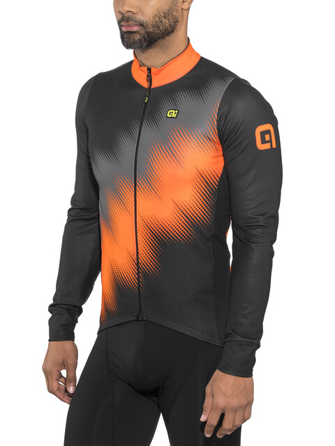 Alé Cycling Solid Pulse Longsleeve Jersey Men black-grey-fluo orange